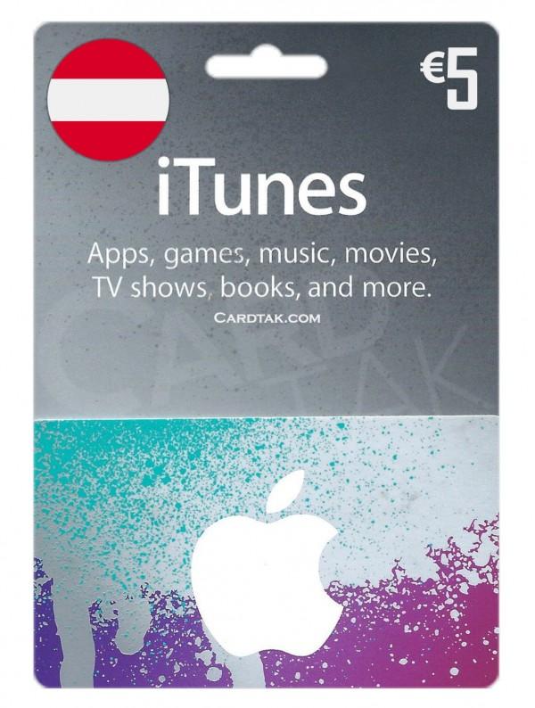گیفت کارت آیتونز 5یورو اتریش (بهترین قیمت)