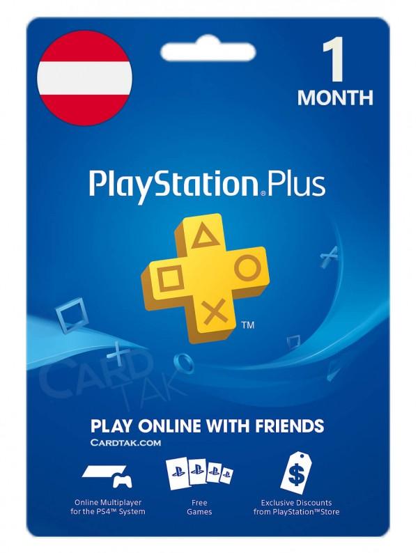 خرید اشتراک 1ماهه PlayStation Plus اتریش بهترین قیمت
