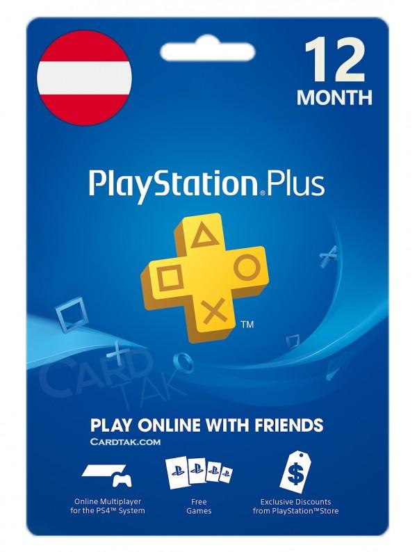 خرید اشتراک 12 ماهه PlayStation Plus اتریش بهترین قیمت