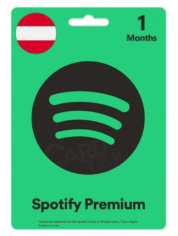 خرید اشتراک 1 ماهه اسپاتیفای پریمیوم اتریش