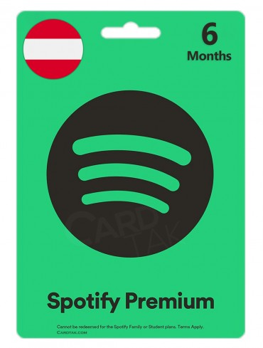 گیفت کارت اسپاتیفای پریمیوم شش ماهه اتریش (AT)