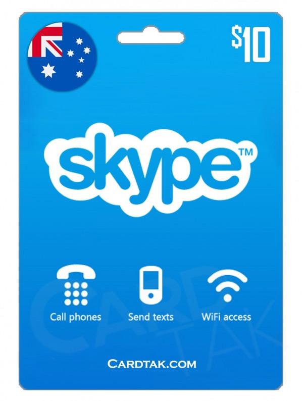 گیفت کارت اسکایپ 10 دلاری استرالیا (AU)