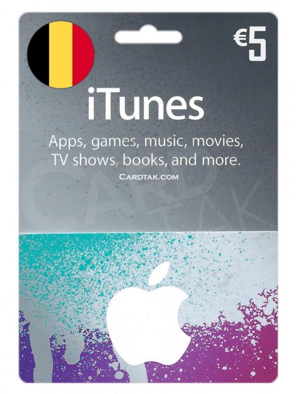 گیفت کارت آیتونز 5 یورو بلژیک (بهترین قیمت)
