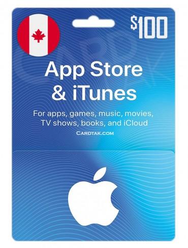 گیفت کارت اپل آیتونز 100 دلاری کانادا (CA)