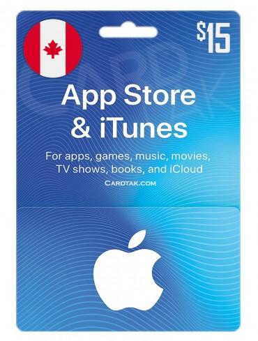 گیفت کارت اپل آیتونز 15 دلاری کانادا (CA)