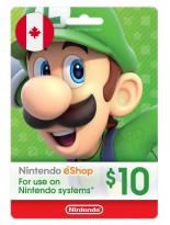 Nintendo 10 CAD Canada