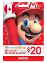 Nintendo 20 CAD Canada