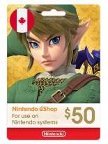 Nintendo 50 CAD Canada