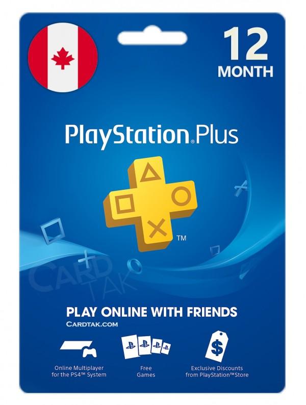 خرید اشتراک 12 ماهه PlayStation Plus کانادا بهترین قیمت