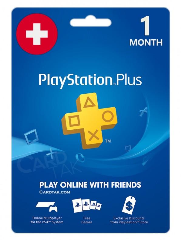خرید اشتراک 1 ماهه PlayStation Plus سوئیس بهترین قیمت