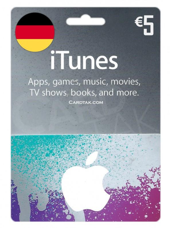 گیفت کارت آیتونز 5یورو آلمان (بهترین قیمت)