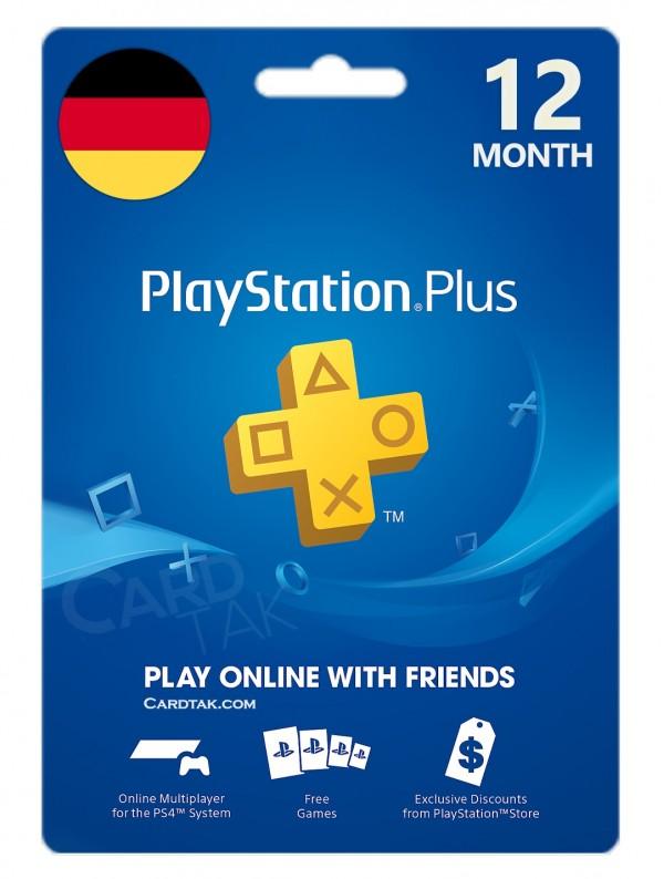 خرید اشتراک 12 ماهه PlayStation Plus آلمان بهترین قیمت