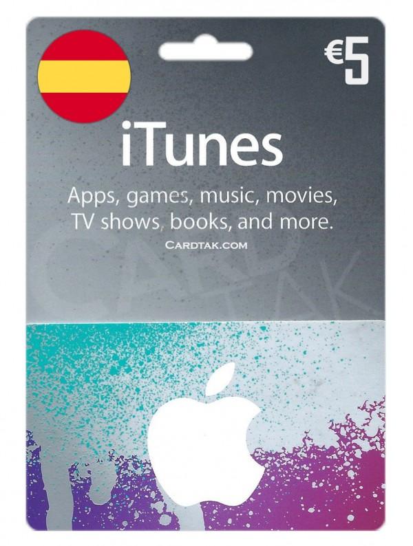 گیفت کارت آیتونز 5 یورو اسپانیا (بهترین قیمت)