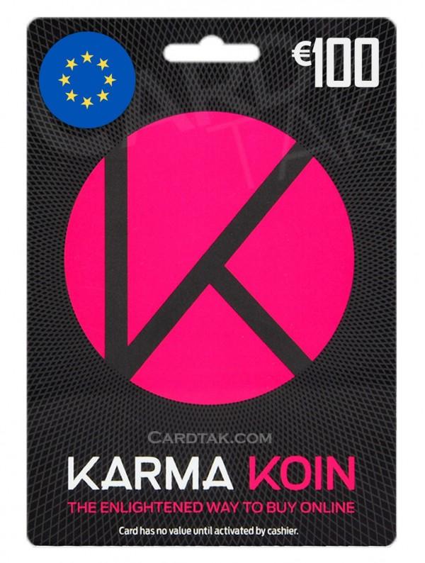گیفت کارت کارماکوین 100 یورو اروپا (EU)