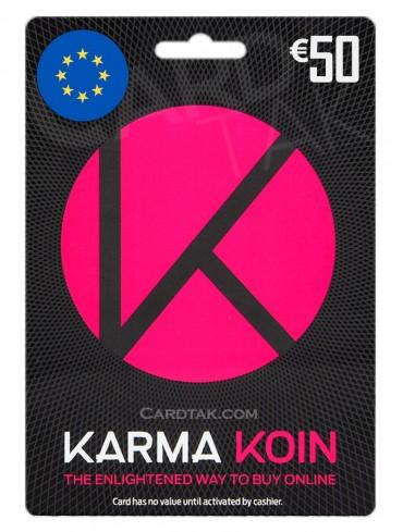 گیفت کارت کارماکوین 50 یورو اروپا (EU)