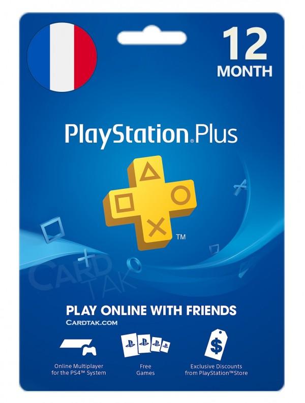 خرید اشتراک 12 ماهه PlayStation Plus فرانسه بهترین قیمت