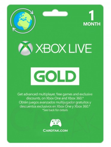 XBOX Live Gold 1 Months (Global/Renewal)