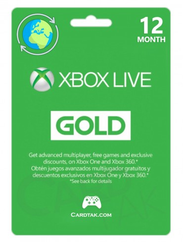 XBOX Live Gold 12 Months (Global/Renewal)