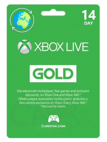 XBOX Live Gold 14 Days (Global/Trial/XBOX Series+One/WIN10)