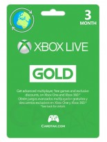 XBOX Live Gold 3 Months (Global/Renewal)