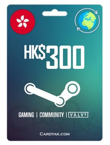 استیم 38.69 دلاری گلوبال (Steam 300 HKD)