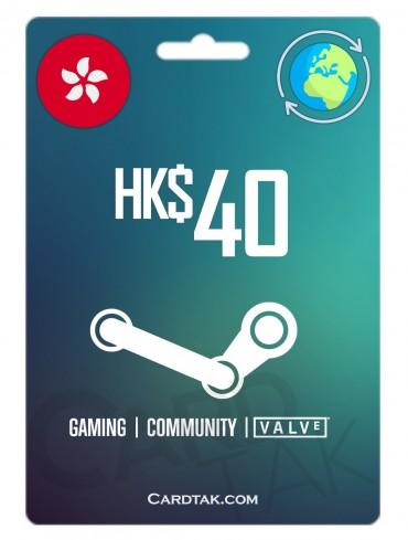 گیفت کارت استیم والت 5.15 دلاری گلوبال | Steam 40 HKD