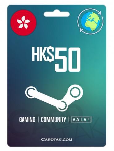 گیفت کارت استیم والت 6.44 دلاری گلوبال | Steam 50 HKD