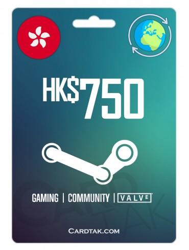 گیفت کارت استیم والت 96.72 دلاری گلوبال | Steam 750 HKD