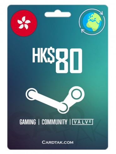 گیفت کارت استیم والت 10.3 دلاری گلوبال | Steam 80 HKD