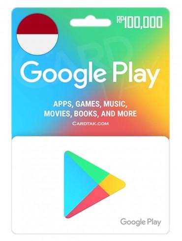 گیفت کارت گوگل پلی 100,000 روپیه اندونزی (ID)