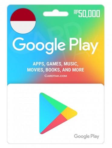 گیفت کارت گوگل پلی 50,000 روپیه اندونزی (ID)