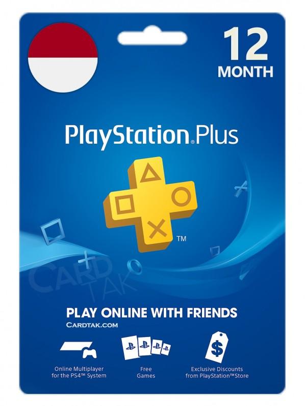 خرید اشتراک 12 ماهه PlayStation Plus اندونزی بهترین قیمت