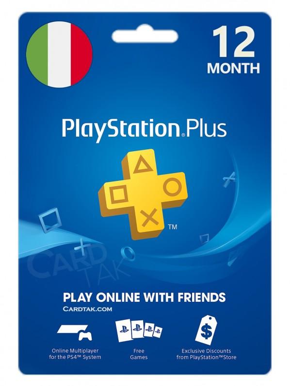 خرید اشتراک 12 ماهه PlayStation Plus ایتالیا بهترین قیمت