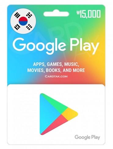 Google Play 15,000 KRW South Korean