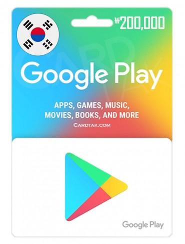 Google Play 200,000 KRW South Korean