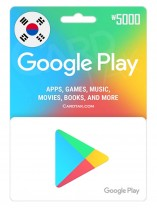 Google Play 5000 KRW South Korean