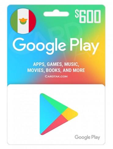 گیفت کارت گوگل پلی 600 پزوی مکزیک (MX)