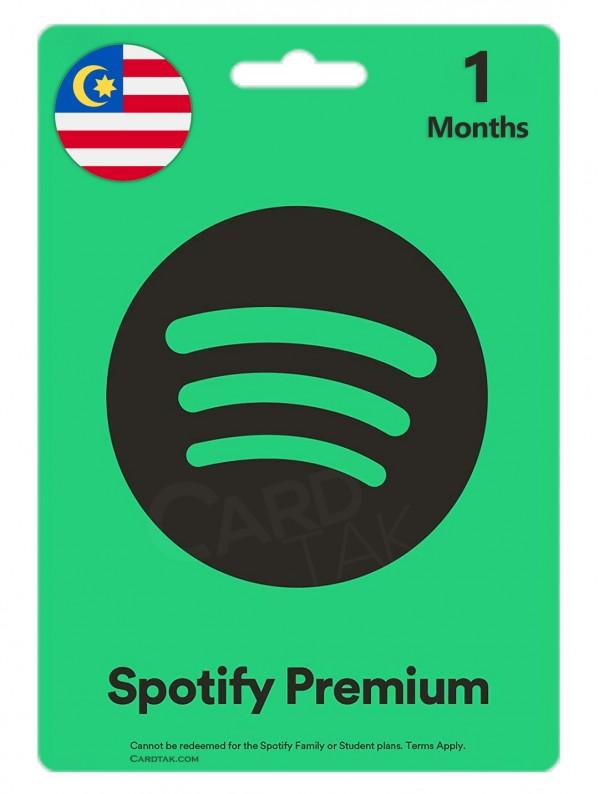 خرید اشتراک 1 ماهه اسپاتیفای پریمیوم مالزی