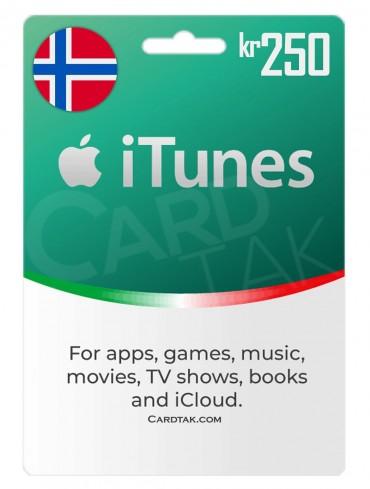 iTunes 250 NOK Norway