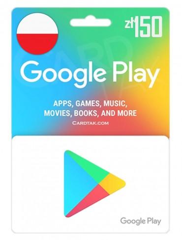 Google Play 150 PLN Poland