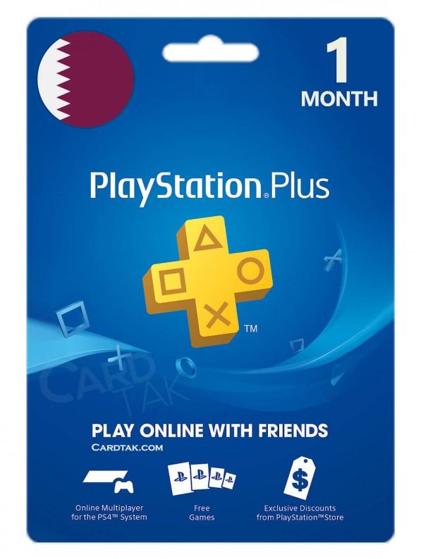 خرید اشتراک 1 ماهه PlayStation Plus قطر بهترین قیمت