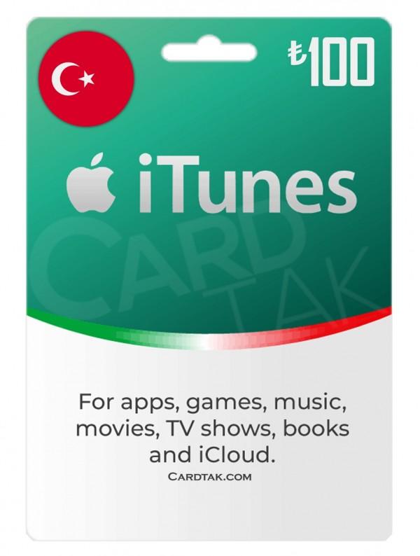 گیفت کارت آیتونز 100 لیره ترکیه (بهترین قیمت)