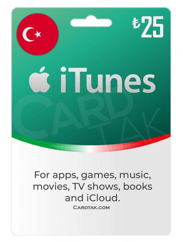 گیفت کارت آیتونز 25 لیره ترکیه (بهترین قیمت)