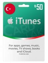 گیفت کارت اپل آیتونز 50 لیره ترکیه (TR)