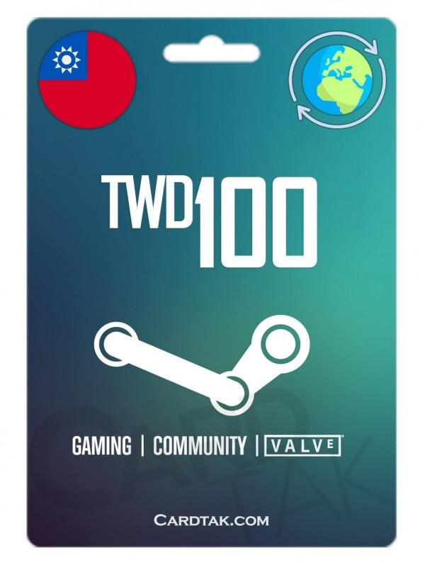 گیفت کارت استیم والت 3.39 دلاری گلوبال | Steam 100 TW