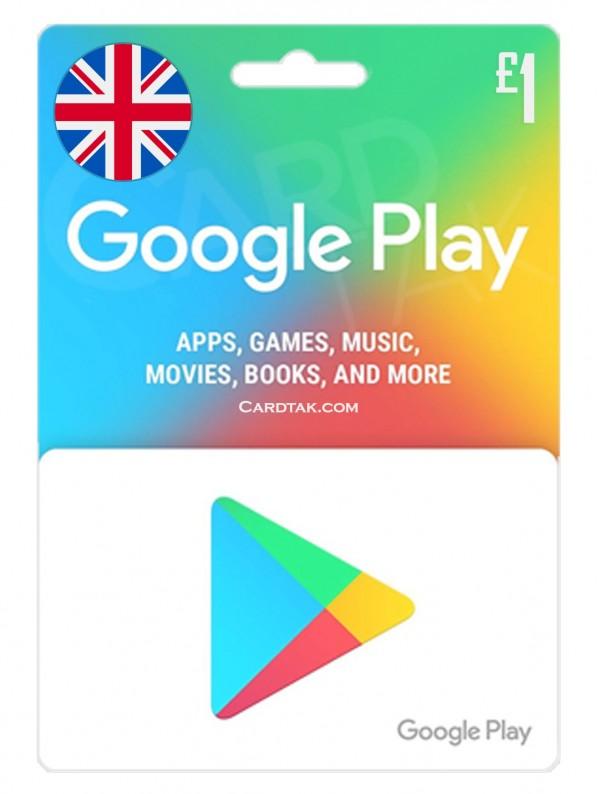 گیفت کارت گوگل پلی 1 پوندی انگلیس (بهترین قیمت)
