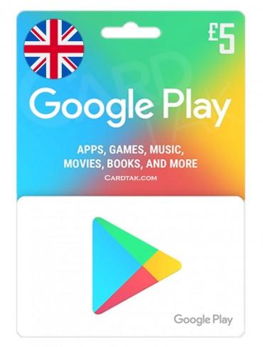 گوگل پلی 5 پوندی انگلیس (UK)
