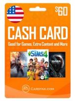 EA Origin Cash Card 60 USD United States