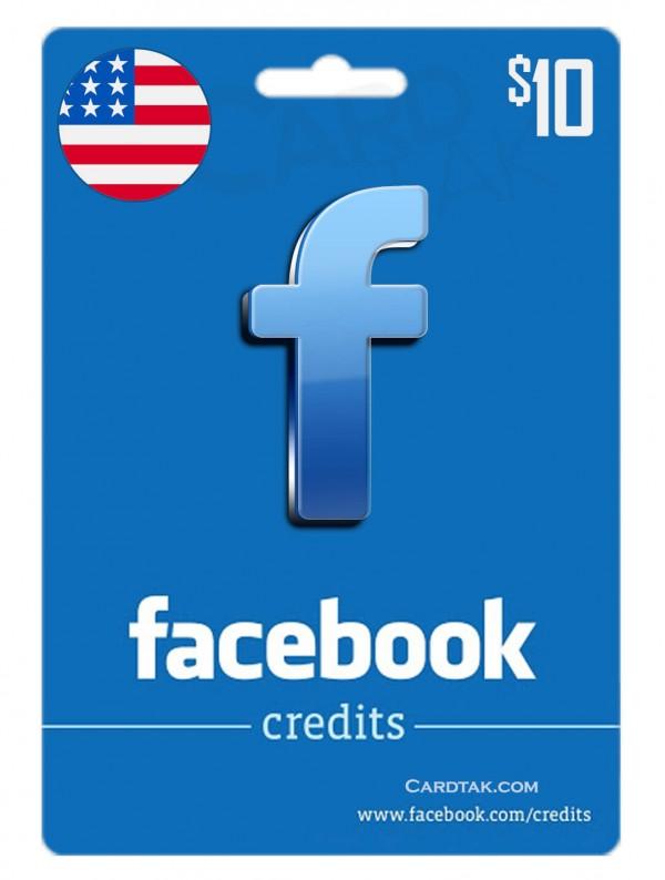 گیفت کارت فیس بوک 10 دلاری آمریکا (US)