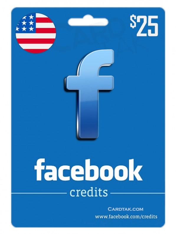 گیفت کارت فیس بوک 25 دلاری آمریکا (US)